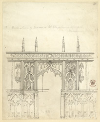St Stephen''s Chapel Restoration, Westminster, 1834